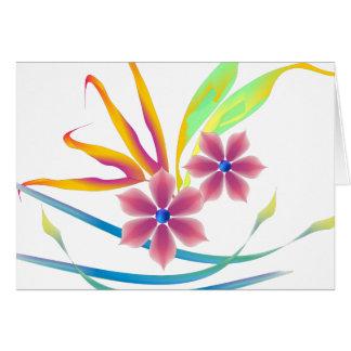 Flores del jardín de la primavera tarjeta de felicitación