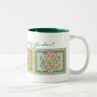 Flores del jardín de la serenidad taza de café