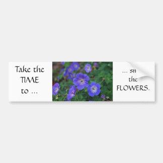Flores del jardín pegatina para auto
