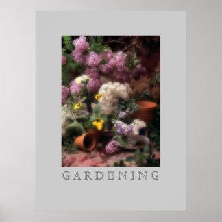 Flores del jardín póster