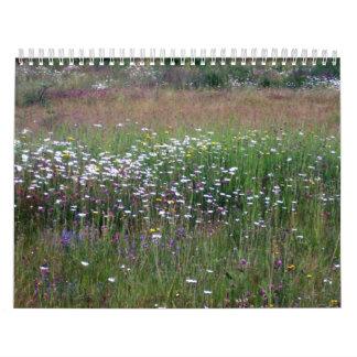 Flores del jardín y de los campos calendarios