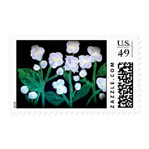 Flores del jazmín sellos
