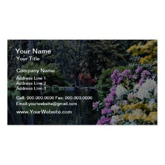 Flores del lago Rozelle, Ayr, Escocia Tarjeta De Visita