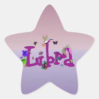 Flores del libra pegatina en forma de estrella