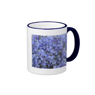 Flores del lino en los jardines de Longwood, Penns Taza A Dos Colores