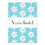 Flores del lirio blanco en un trullo - color de la invitación 12,7 x 17,8 cm