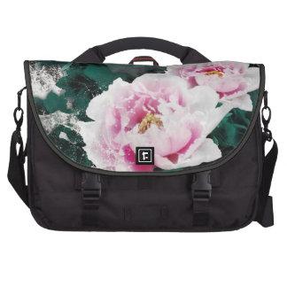 Flores del lirio de agua del vintage - arte de la bolsas de portátil