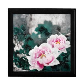 Flores del lirio de agua del vintage - arte de la cajas de regalo