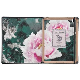 Flores del lirio de agua del vintage - arte de la iPad protector
