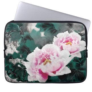 Flores del lirio de agua del vintage - arte de la fundas portátiles