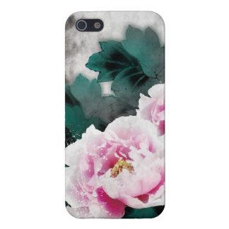 Flores del lirio de agua del vintage - arte de la  iPhone 5 fundas