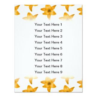 """Flores del lirio tigrado. Modelo Invitación 4.25"""" X 5.5"""""""