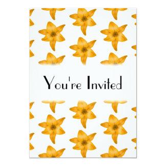 """Flores del lirio tigrado. Modelo Invitación 5"""" X 7"""""""