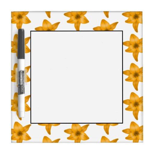 Flores del lirio tigrado. Modelo Pizarra Blanca