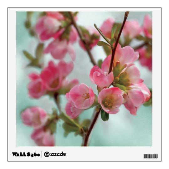 Flores del membrillo vinilo adhesivo