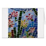 Flores del mosaico felicitación