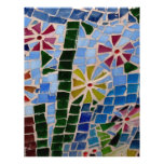Flores del mosaico membretes personalizados