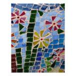 Flores del mosaico tarjeta publicitaria