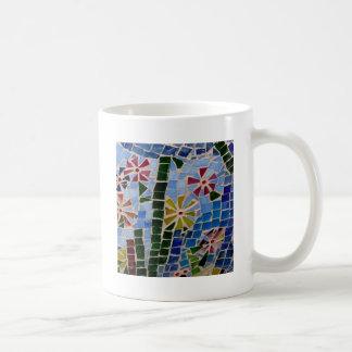Flores del mosaico tazas