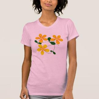 Flores del naranja y del amarillo poleras