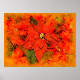 Flores del navidad impresiones