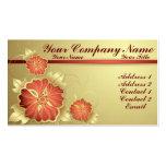 Flores del navidad plantilla de tarjeta personal