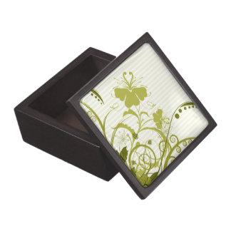 Flores del oro en rayas caja de regalo de calidad
