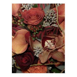 Flores del otoño postal