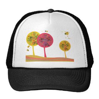 Flores del paisaje de los árboles del del árbol gorro de camionero