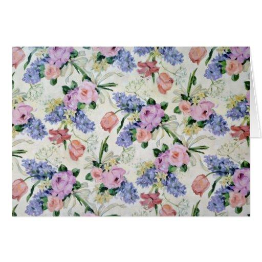 Flores del papel pintado tarjetas