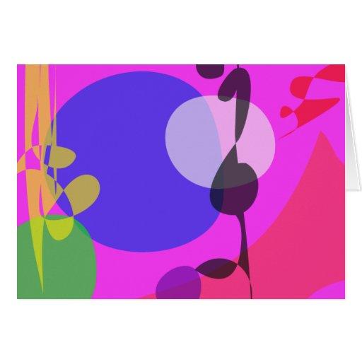 Flores del patio trasero tarjeta de felicitación