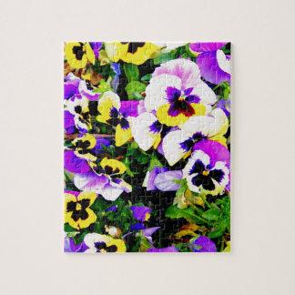 flores del pensamiento puzzle con fotos
