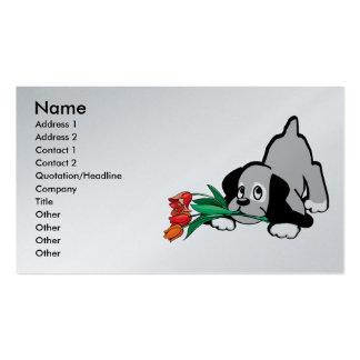 flores del perro de perrito plantillas de tarjeta de negocio