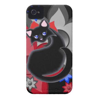 Flores del pétalo del gatito de Kiara Toon con la Case-Mate iPhone 4 Fundas