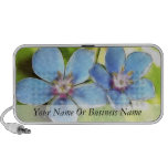 Flores del Pimpernel azul (monelli del Anagallis) iPhone Altavoz