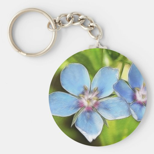 Flores del Pimpernel azul (monelli del Anagallis) Llavero