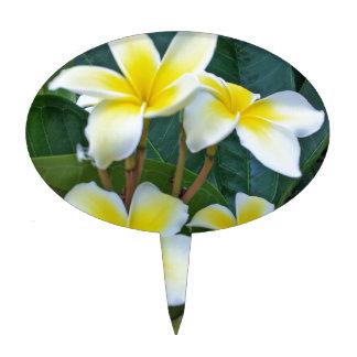 Flores del Plumeria de Hawaii Decoración De Tarta