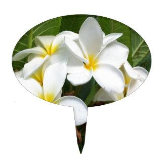 Flores del Plumeria de Hawaii Palillos De Tarta