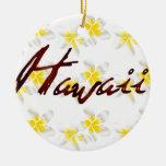 Flores del Plumeria de Hawaii Ornamento Para Reyes Magos