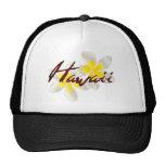 Flores del Plumeria de Hawaii Gorras De Camionero