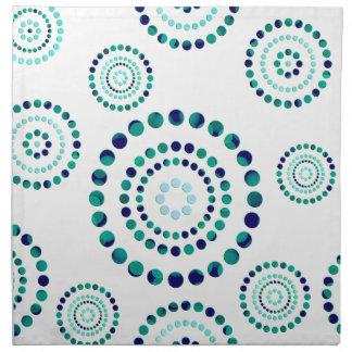 Flores del poder del círculo de los puntos + su servilleta de papel