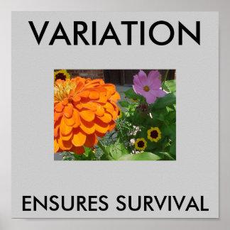 Flores del pórtico - la selección natural de Darwi Póster