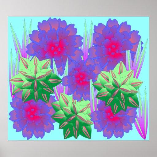 Flores del poster de la primavera