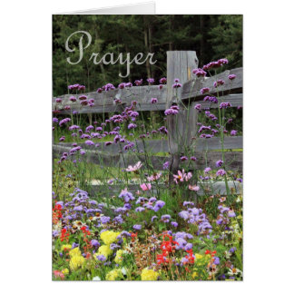 Flores del rezo tarjeton