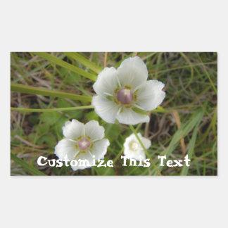 Flores del Riverbank; Personalizable Pegatina Rectangular