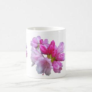 Flores del rododendro taza de café