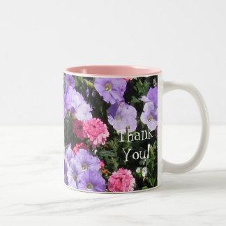 ¡Flores del rompeolas y gracias! Taza De Café