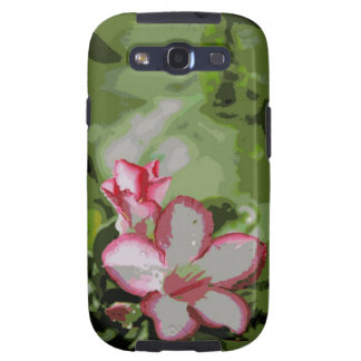 Flores del rosa de desierto en el diseño de la samsung galaxy s3 coberturas