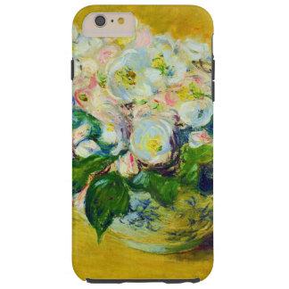 Flores del rosa de navidad funda resistente iPhone 6 plus