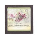 Flores del rosa del rezo de la serenidad cajas de recuerdo de calidad